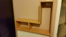 Wall hanging shelves X2