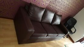 Brown 3 seater sofa new