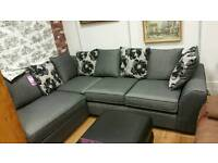 Brand new grey corner sofa from a major retailer now less than half the original price