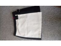 Brand new Black and white very skirt size 14