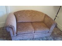 Parker Knoll 2 seater sofa bed with recliner armchair