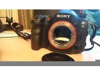 Sony a99 camera, Flash, Zeiss Lens, and Grip. 24.3mp. EXCELLENT camera