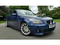 2008 + BMW 530i M SPORT + 4 DOOR MANUAL + TOP SPEC + SATNAV + SPORTS SEATS + FULLY ELECTRIC + 2 KEYS