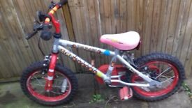 Kid bike 14 inches wheel 3-5 years old