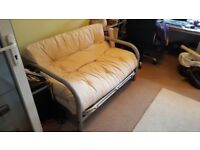 DOUBLE FUTON FOLDING BED/SOFA 4FT6 X 6FT2 IN VERY GOOD USED CONDITION FREE LOCAL DELIVERY