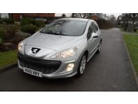PEUGEOT 308 SPORT 1.6 HDI 107 BHP DIESEL 2010 MODEL ONLY 76,000 MILES AND A FULL 12 MONTHS MOT