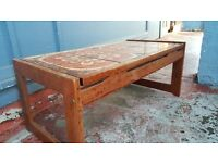 Vintage Tile Top Coffee Table in Good Condition