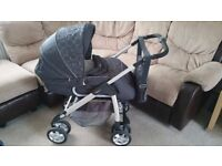 Silver Cross Linear Freeway travel system (pushchair/pram with isofix car seat)