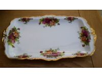 Royal Albert Old Country Roses Sandwich Rectangular Tray