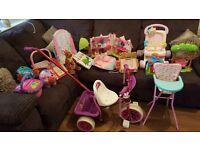 Girls toy bundle and trike