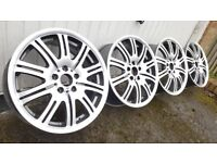 BMW 18 INCH MV2 M3 STYLE ALLOYS DIAMOND CUT FIT 1 3 5 SERIES