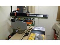 Dewalt Radial Arm Saw for sale in pristine condition.