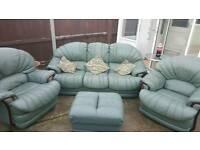 Leather sofas set