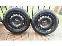 Pair of 175-65-14 wheels with very good tyres