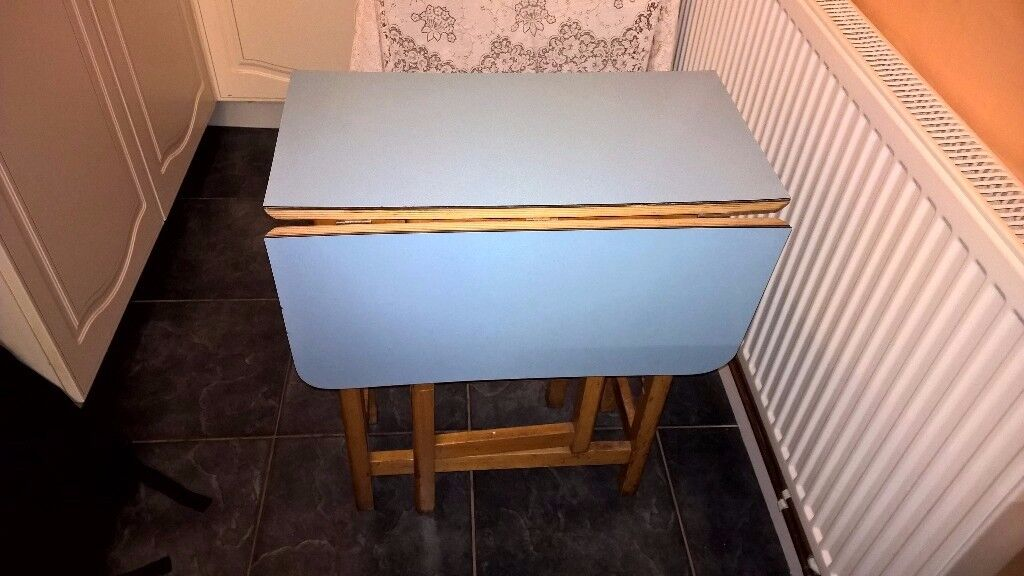 Vintage drop leaf gateleg Kitchen table mid 20th century