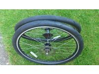 Set Of Mountain Bike Wheels 26 inch DST Disc Rims whit Continental SportContact
