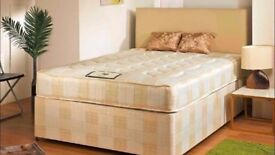 ** DOUBLE /SMALL DOUBLE SIZE DIVAN BEDS ** __ BASE + FULL ORTHOPEDIC MATTRESS __ SAME DAY DELIVERY