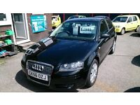 2006 (56) AUDI A3 1.6 SPECIAL EDITION 3 DOOR HATCH BLACK NEW MOT DONE 110K WITH F/S/H CD ALLOYS E/W