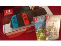 BOXED Nintendo Switch (PLUS Breath of the Wild and Fire Emblem Warriors)