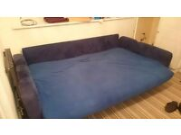Sofa / Bed dark blue 140 x 200 cm very comfortable