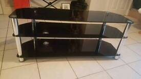 Black Glass 3 Tier Tv Stand(Sold)