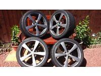 5 spoke alloys with tyres