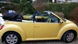Stunning Yellow Convertable BE Beetle