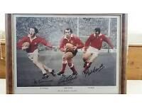 Welsh rugby legends, J, P, R Williams, Gareth Edwards, Phil Bennett.