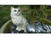"White Persian Beswick Cat 8"" high Model 1867"