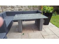 Rattan garden dining table