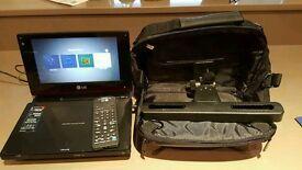 "LG portable DVD/CD player 3:1 USB 8"" screen"