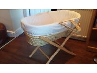 Moses Basket with stand. Baby crib bassinet.
