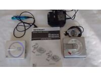 Sharp MD-MS701H2 Personal MiniDisc Player with Sony M2-E62