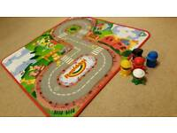 Happyland town floor mat and characters