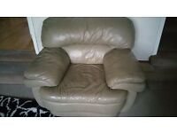 Leather Sofas 1 Seater and One Seater