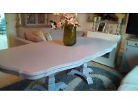 Elegant Curved Dining Table seats 6-10 people