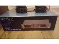 Prosound Class D 1000w Ampifier