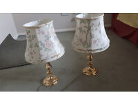 Pair of brass / brass effect M & S table lamps