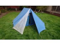 VINTAGE QUALITY MADE PARIS MARECHAL CYCLOMOTEUR 2/3 MAN TENT ALL COMPLETE CAMPING FESTIVAL HIKING GC