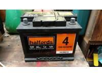 Halfords 60ah 540cca car battery
