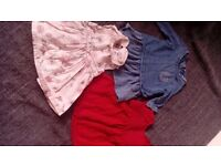 0-3 month baby girl dress bundle from Next and Mamas and Papas