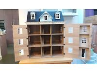 Good condition 3-storey Dolls House with attic space, Wood Green, N22