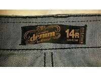 Dark blue denim jeans - bootleg