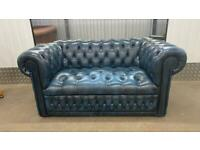 Stunning Winchester 2 seater fully buttoned leather chesterfield sofa £595