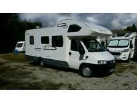 Fiat a601 lunor champ 6 berth motorhome