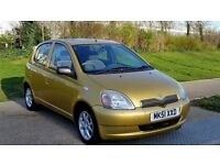 Toyota Yaris 67000 miles 1.3 VVT-i 16v CDX 5dr£1,290 MINT CONDITION++MUST BE SEEN!!