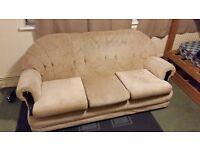 3 seater sofa for sale velvet beige