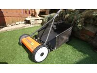 Completely Emission Free Adjustable Cutting Height 12 - 55mm. With grass box.