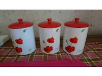 Poppy tea/coffee/sugar jars