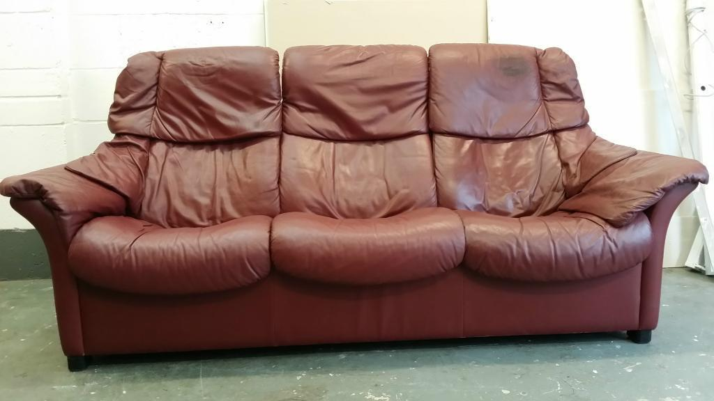Ekorness stressless recliner sofa purchase sale and for Paloma leather sofa